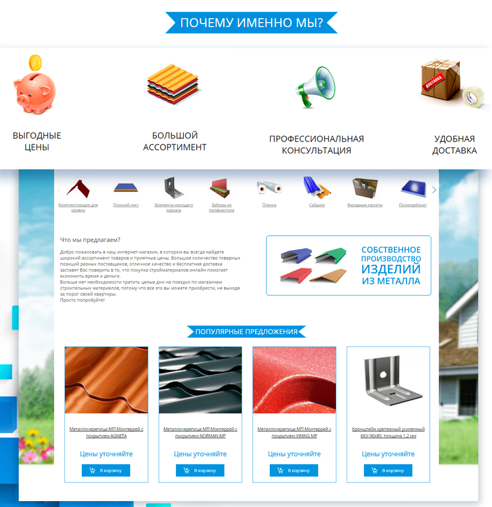 Создание сайта для интернет магазина